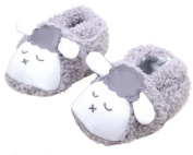 Happy Cherry Toddler Coral Warm Shoes Baby Soft Sole Slip-on Cute Sheep Prewalker