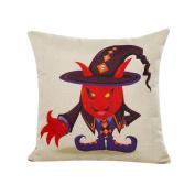 Tiean Halloween Pillow Case Sofa Waist Throw Cushion Cover Home Decor (Black)