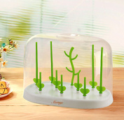 Bobei Multifunctional Antibacterial Baby Bottle Drying Rack With Dust Cap