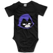 Teen Titans Go Raven's Head Baby Onesie Baby Bodysuit