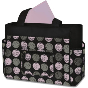 Baby Essentials Fashion Nappy Tote Bag, Swirl Dot