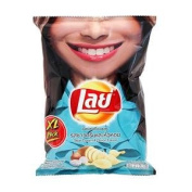 New Lays Potato Chips Sour Cream & Onion 105g.