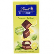 Lindt Summer Lemon Mint Chocolate 100g.