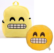 Babyhaven Plush Emoji Say Cheese Little Kids Backpack and Pillow Set