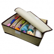 AMTopshow 5 Cell Foldable Drawer Divider, Underwear, Bras, Socks, Ties Linen Storage Boxes