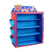 ARTSMAX Child Shelf Storage 4-Tier Shoes Shelves With Side Pockets 50 × 20 × 64CM