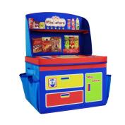 ARTSMAX Children Storage Box With Cover Fabric Storage File Cube With Storage Shelf 40 × 30 × 56CM
