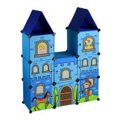 ARTSMAX DIY Child Castle Storage Cupboard 8 Cubes Storage Combination Oxford File Storage 64 × 32 × 118cm