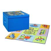 ARTSMAX Child Toys Storage Box With Lid Storage Fabric Storage File Cube 50 x 50 x 35CM