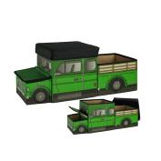 ARTSMAX Children Toy Storage Box With Lid Truck-Shaped Storage Cube Storage 58 × 23 × 25CM