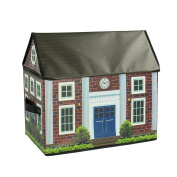 ARTSMAX Children Toy Storage Box With Lid Home-Shaped Storage File Cube Storage 40 × 25 × 37CM