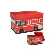 ARTSMAX Children Toy Storage Box With Lid Bus-Shaped Storage File Cube Storage 40 × 25 × 25 CM