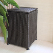 YZL/ Square covered laundry/laundry basket/Wicker storage basket hamper/basket of dirty clothes storage/storage box