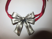 Longaberger Pewter Bow Basket Tie on