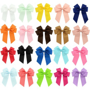 8.9cm Baby Girl's Hair Bow Grosgrain Ribbon Large Cheer Boutique Hair Bows Clips For Kids Teens Girls Babies Children Toddlers