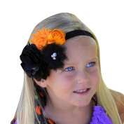 Alonea Baby Girl Newborn Toddler Halloween Flower Bowknot Elastic Headband