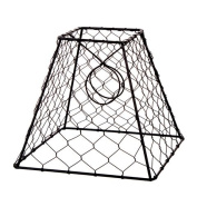 Lamp Shade Clip On Light Bulb Black Chicken Wire Shade 20cm x 20cm