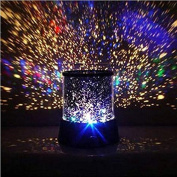 ELECSHELL Colourful Stars Cosmos Laser Projector Lamp,Bedside Lights
