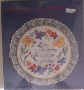 Life Love Giving Stamped Cross Stitch Kit #9450cm - 18cm Round