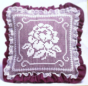 The Creative Circle Needlepoint Pillow Kit - Rose Garden Beauty - 25cm x 25cm # 0470