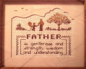 The Creative Circle Needlepoint Kit - Father - 20cm x 25cm