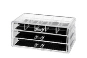 Clear Acrylic Jewellery & Cosmetic Storage Display Box Organiser by Juvale