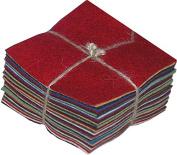 National Nonwovens WCF006-CP 100% Homespun Charm Pack Wool Felt