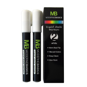 MB 2 Pack - Premium Reversible Tip Liquid Chalk Marker Set, Eco Friendly, Non Toxic Markers Perfect for Glass, Chalk Labels, Windows & More (Wipes Clean, No Mess)