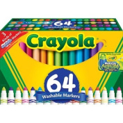 Crayola 64-Count Broad Line Markers 8 gel markers