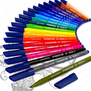 Click to open expanded view Staedtler - Noris Club Fibre Tip Pens - Limited Edition Adult Colouring Wallet of 20 - WP20AC