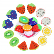 Bilipala 12 Counts 6 Types Cute Mini Fruit Pencil Erasers for Kids
