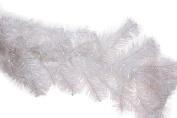 Premium White Sparkling Christmas Artificial Pine Bough Garland - 2.7m Long