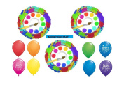 11pc BALLOON set ART PARTY paintbrush BIRTHDAY foils and latex NEW