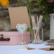 Wedding Table Name Blank Cards Heart Kraft Cards x 16 Rustic