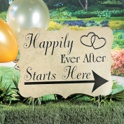 Happily Ever After Starts Here Yard Sign