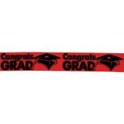 "Red ""Congrats Grad"" Streamers"