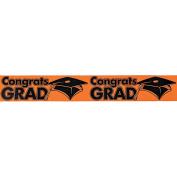 """Congrats Grad"" Orange Streamers"