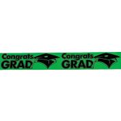 """Green """"Congrats Grad"""" Streamers"""