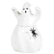 Fitz & Floyd 56-181 Halloween Hollow Ghost Cookie Jar, , Ivory
