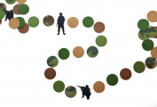 Army Men Camo Paper Military Party Garland