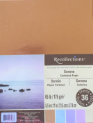Recollections Serene Cardstock (includes Metallic Bronze) 8.5X11