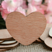 Wood Hearts Confetti 5.1cm - Rustic Wedding Decor