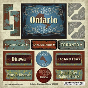 Ontario- Canada -Toronto- Niagara Falls- Distressed Sticker