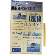 Baby Boy Full Colour Rub On Image Transfers--Perfect for Scrapbooking or Card Making!!!
