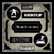 Skateboarding Antique Sticker