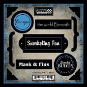 Snorkelling Antique Sticker