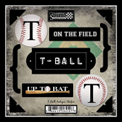T-Ball, Up To Bat- On the Field Antique Stickers