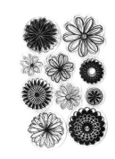 Forever in Time Clear Cling Rubber Stamp Sunshine Daisy Flowers