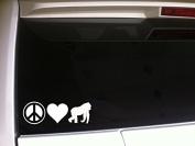 Peace Love Gorilla Harambe 18cm P01 Vinyl Decal Sticker