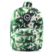 Wensltd Hotsale! Natural Green Leaves Small Canvas Rucksack Backpack School Book Shoulder Bag
